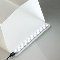 Lerbyee Folding Lightbox Photo Studio LED Desktop Studio Portable Photography Lightbox Studio for Smartphone DSLR Camera