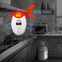 KERUI LED Digital Display Carbon Monoxide Detectors Voice Strobe Home Security Safety CO Gas Carbon Alarm Detector Sensor Alarm