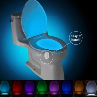 Party Bathroom Decorative Colorful Light UV Sterilization Toilet Lamp Body Motion Activated Seat Sensor Lamp