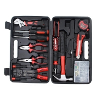 12pcs Hardware Toolbox Tool Set Portable Home Combination Repair Toolbox With Plastic Box