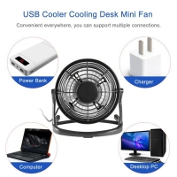 Portable DC 5V Small Desk USB 4 Blades Cooler Cooling Fan USB Mini Fans Operation  Super Mute Silent PC / Laptop / Notebook