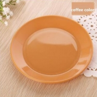 FEIGO 1 Pc Dinner Plates Colorful Tableware Fruit Saucer Food-grade Plastic Plates Snack Dish Kitchen Supplies Dishes Plates F528