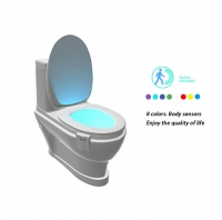 Smart Bathroom Toilet Nightlight LED Body Motion Activated On/Off Seat Sensor Lamp 8 Color PIR Toilet Night Light lamp