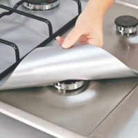 4PCS prevent need clean cooking hab kitchens Black&Silver