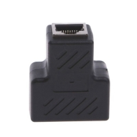 MLLSE 1 To 2 Ways RJ45 LAN Ethernet Network Cable Female Splitter Connector Adapter AA4115
