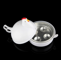 Kitchen Eggs Steamer Chicken Shaped Microwave 4 Egg Boiler Cooker Novelty Kitchen Cooking Appliances Steamer Home Tool