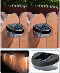 NEW House Home Outdoor Garden Yard Path Fence Landscape Mount Solar Ni-MH Powered 2V Power 2LED Lamp Light Garden Ornaments