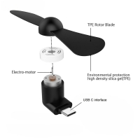 BinFul Newest Mini Portable gadget Type C Mobile Phone Cooling usb mini Fan Super Mute For Android LG Huawei phone