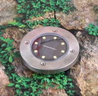Waterproof Solar Powered 8 LED Buried Underground Lighting Outdoor Landscape Path Garden Lamp Stairs Light Decking Lamp