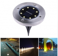 Waterproof Solar Powered 8 LED Buried Underground Lighting Outdoor Landscape Path Garden Lamp Stairs Light Decking Lamp
