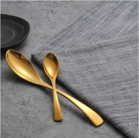 Stainless Steel Noble Quality Cutlery Sets Gold Color Tableware Dinnerware Western Fork Knife
