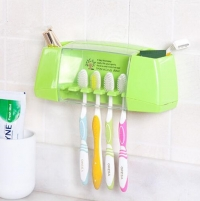 BAISPO Multifunctional toothbrush holder storage box bathroom Products bathroom accessories suction hooks tooth brush holder