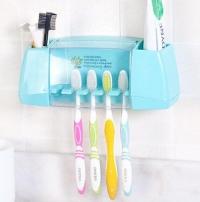 BAISPO Multifunctional toothbrush holder storage box bathroom Products bathroom accessories suction hooks tooth brush holder