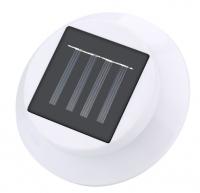 4 LED Solar Powered Gutter Light Outdoor/Garden/Yard/Wall/Fence/Pathway Lamp Solar panel+Plastic Solar Rechargeable Light