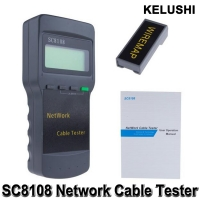 KELUSHI Portable Multifunction Wireless Network Tester Sc8108 LCD Digital PC Data Network CATS RJ45 LAN Phone Cable Tester Meter