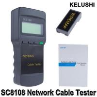 KELUSHI Portable Multifunction Wireless Network Tester Sc8108 LCD Digital PC Data Network CATS RJ45 LAN Phone Cable Tester Meter