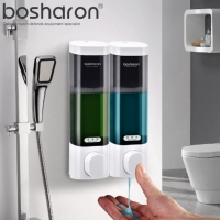 Kitchen Liquid Hand Soap Dispenser Wall Mounted ABS Plastic Dispensers For Shampoo Body Wash Detergent Home Bathroom Accessories